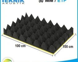 50 MM Yapışkanlı Akustik Piramit Sünger